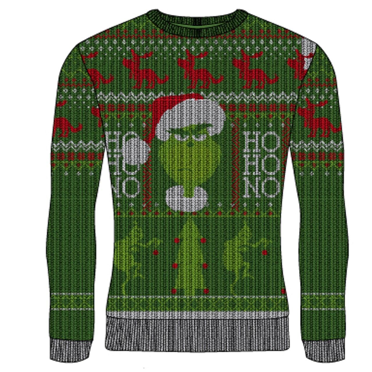 The Grinch: Ho Ho No Christmas Jumper (Small) - 1