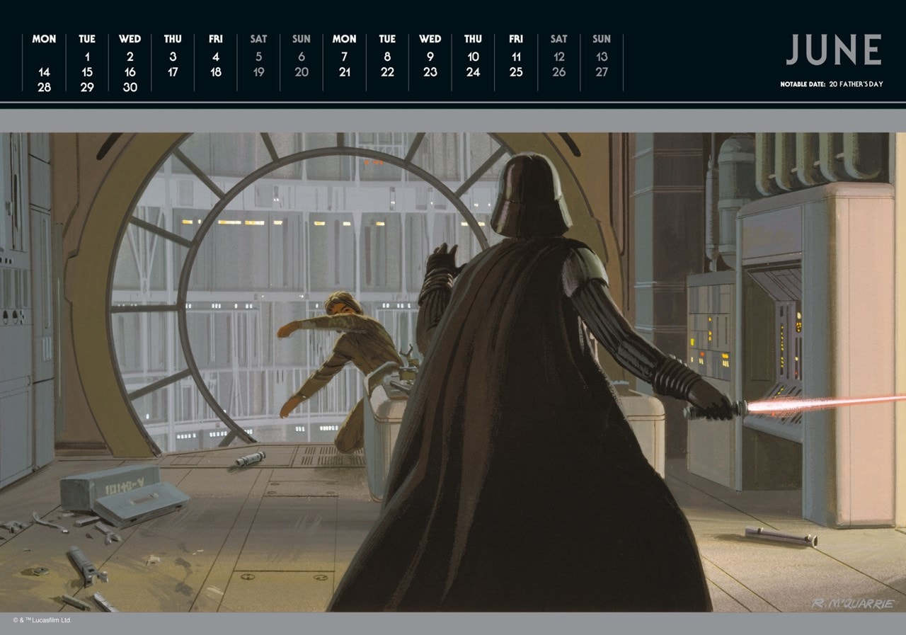 Star Wars Classic: A3 Deluxe 2021 Calendar - 2