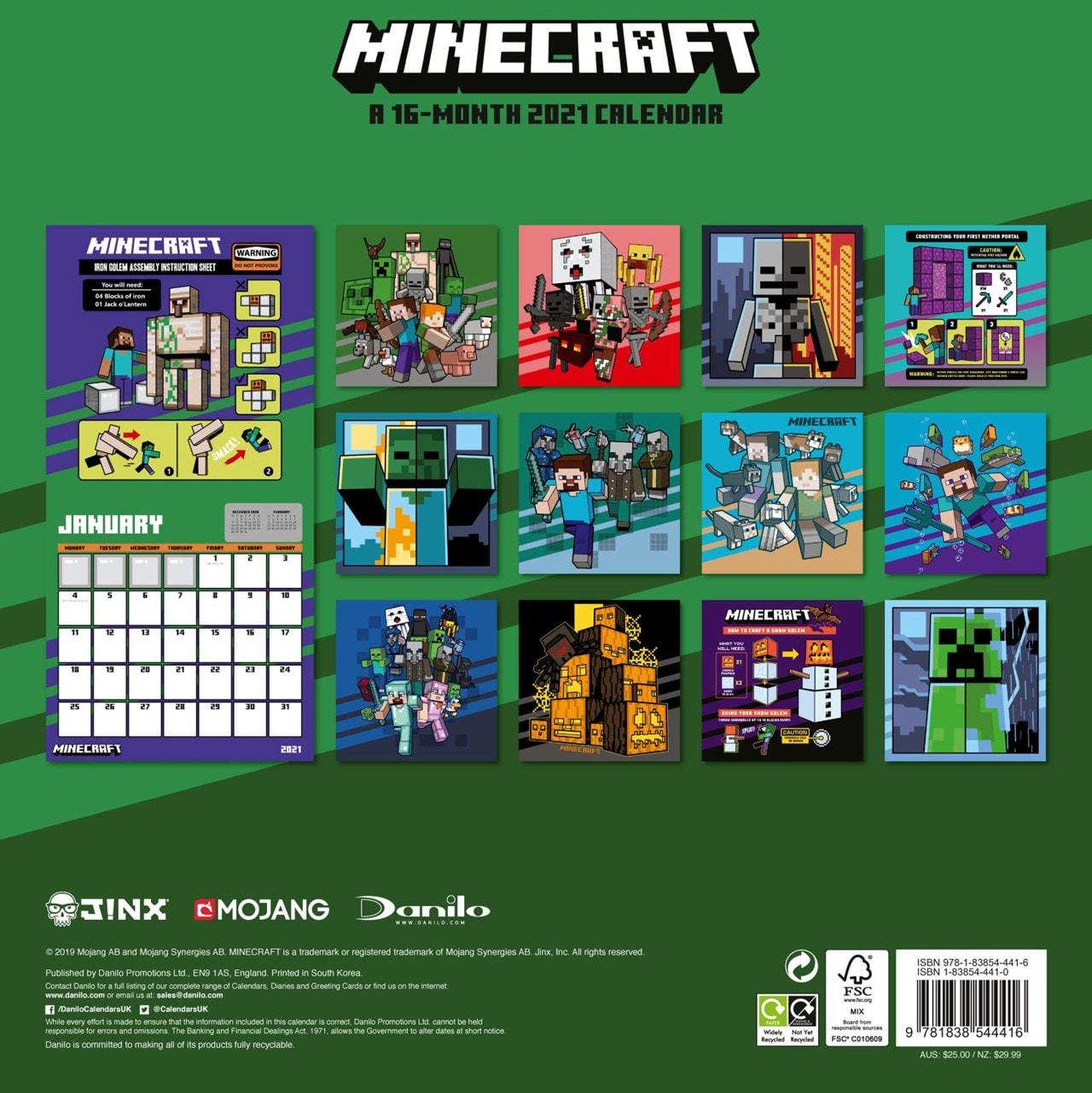 Minecraft: Square 2021 Calendar - 3