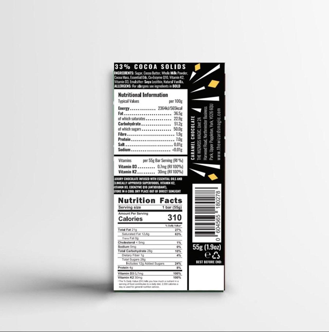 Wizards Magic Chocolate: Immunity Gift Pack: Orange & Caramel (Pack of 4) - 6