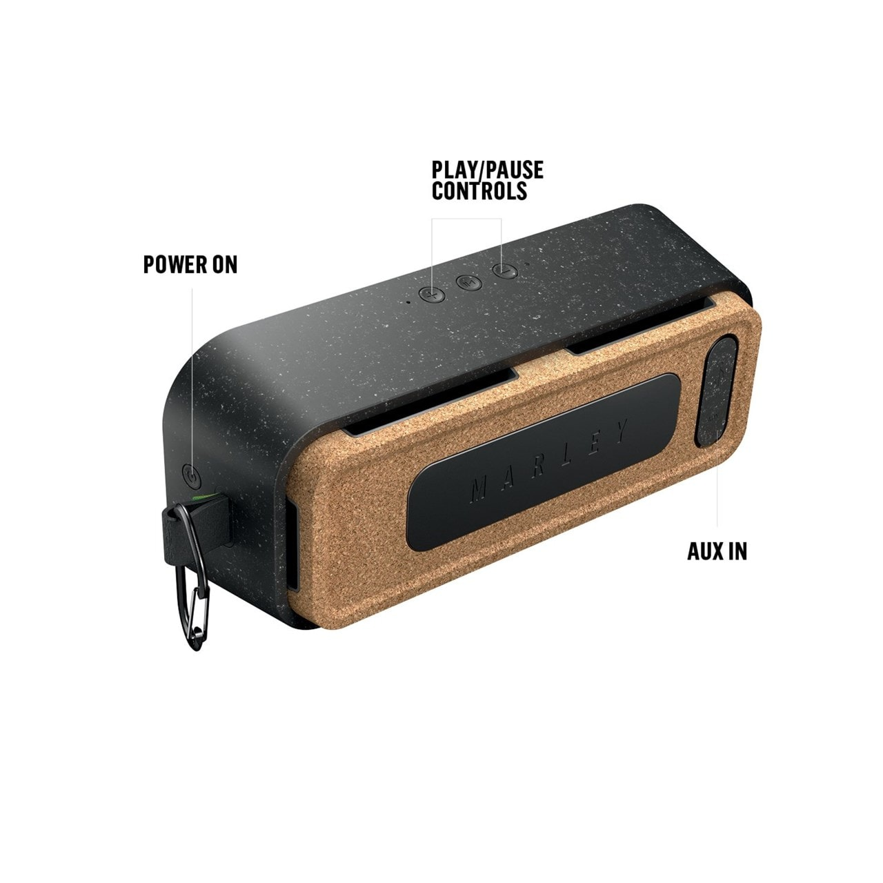 House Of Marley No Bounds XL Signature Black Bluetooth Speaker - 2