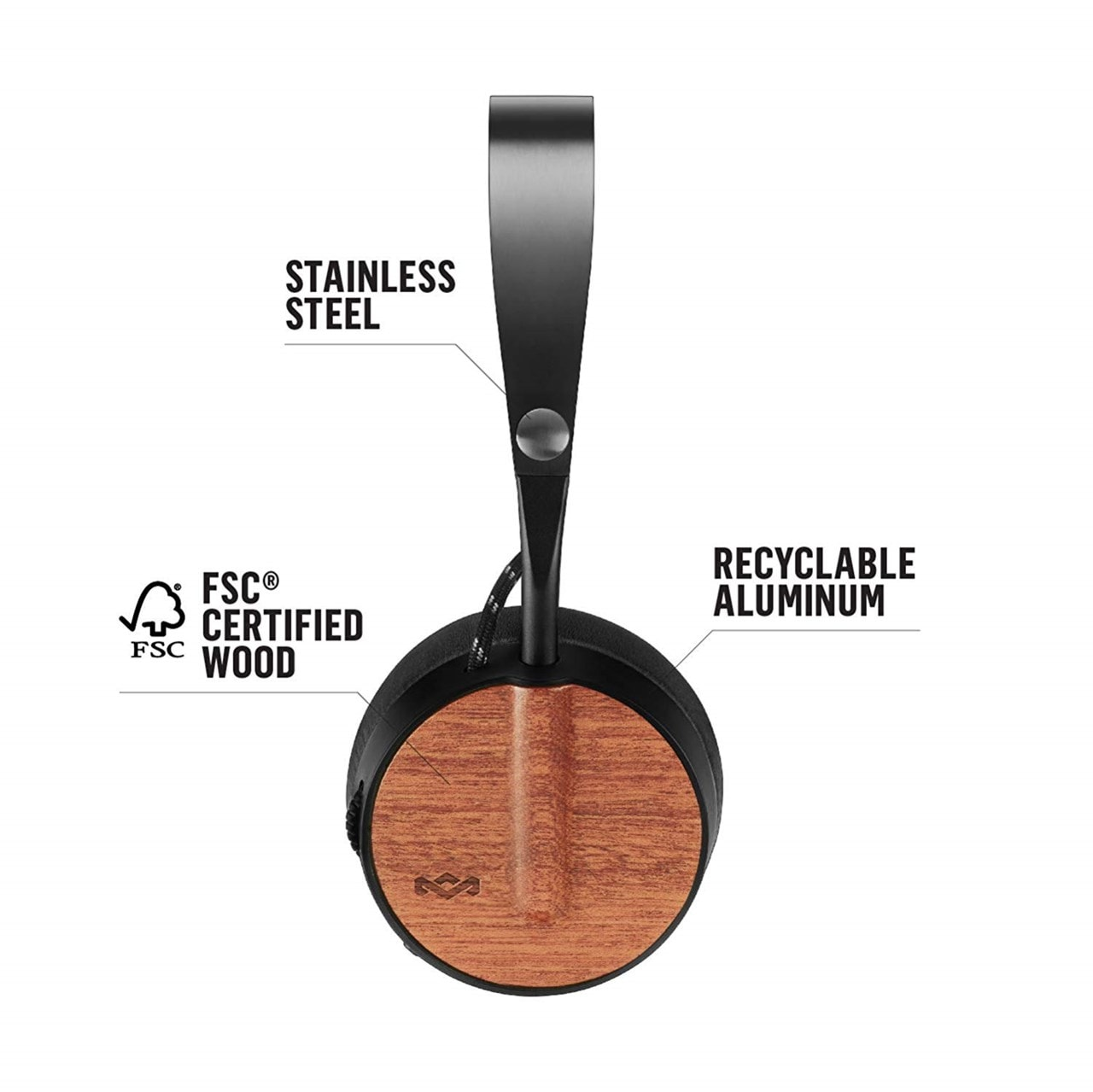 House Of Marley Buffalo Soldier Signature Black Bluetooth Headphones - 3