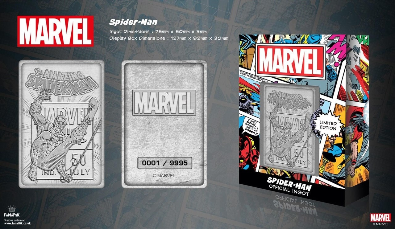 Spider-Man: Marvel Limited Edition Ingot Collectible - 5