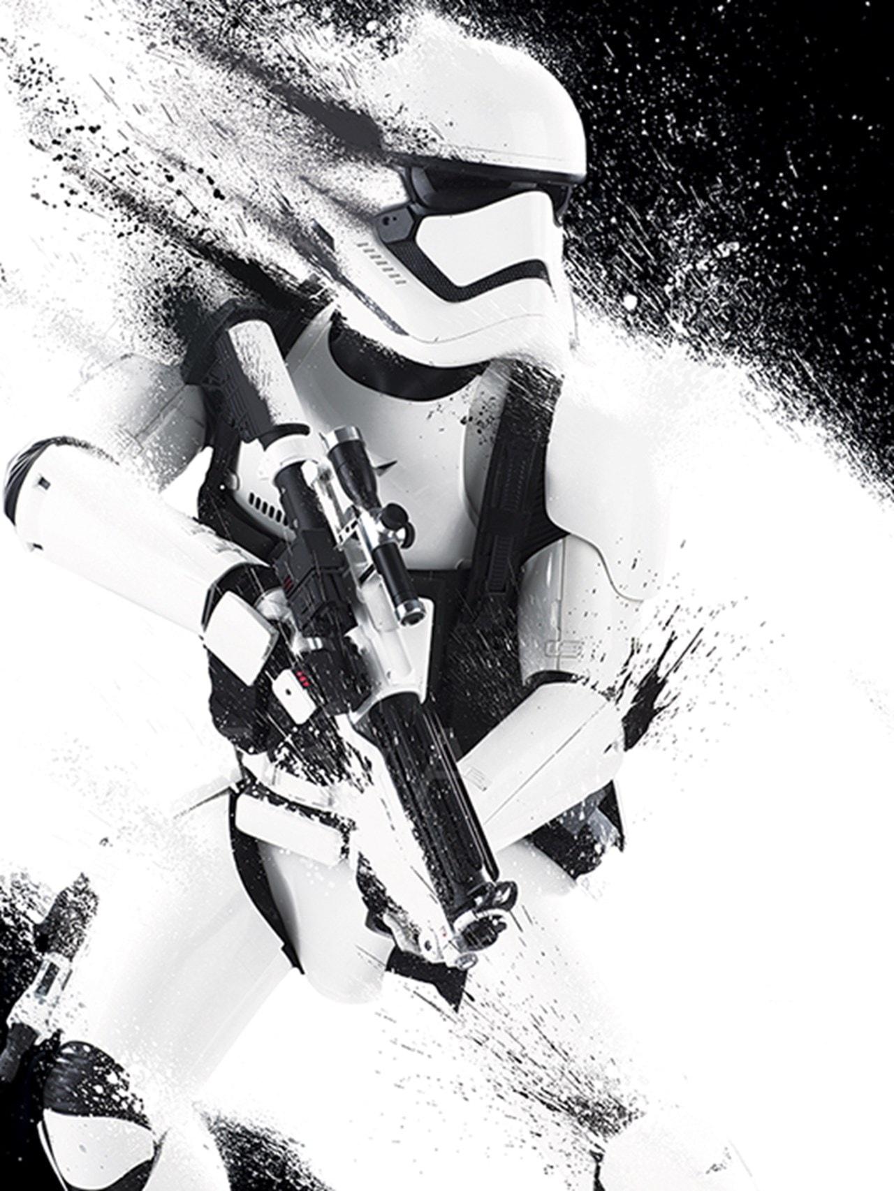 Star Wars: Episode VII Stormtrooper Paint Canvas Print - 1