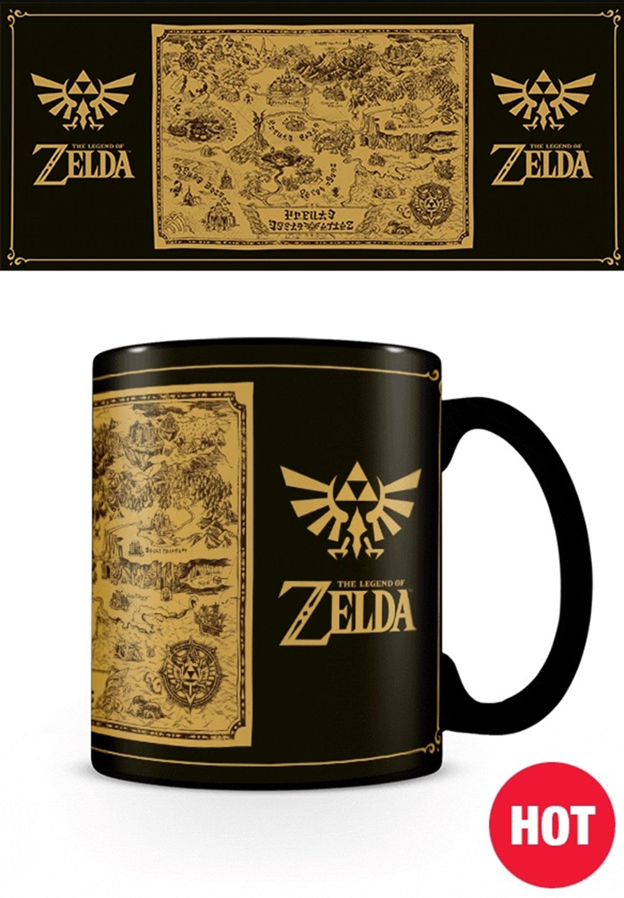 Heat Changing Mug: Legend Of Zelda: Map Silhouette - 2