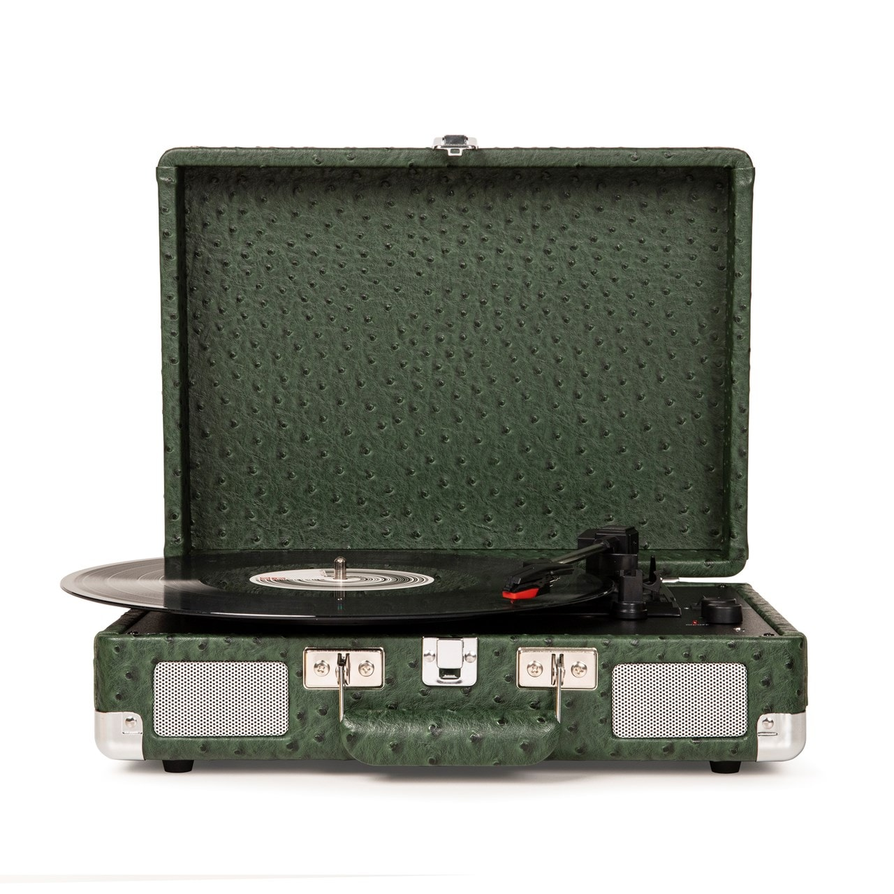 Crosley Cruiser Deluxe Green Ostrich Turntable - 1