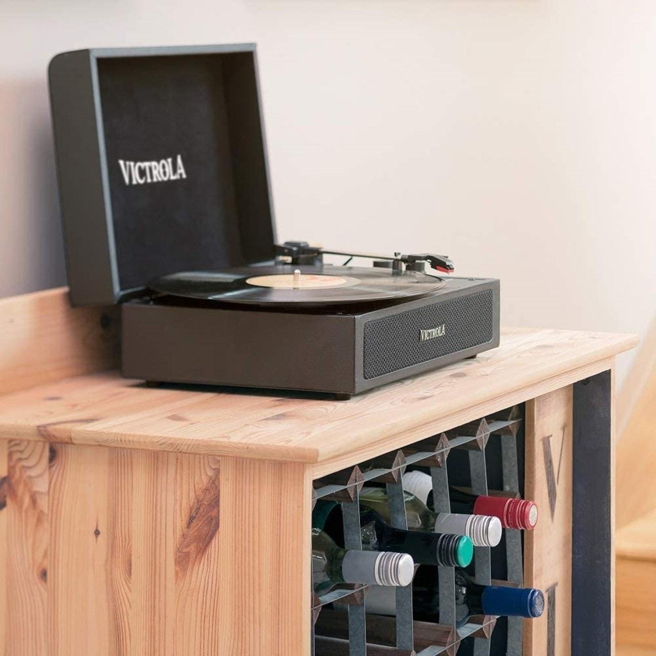 Victrola Premium Black Suitcase Bluetooth Turntable - 2