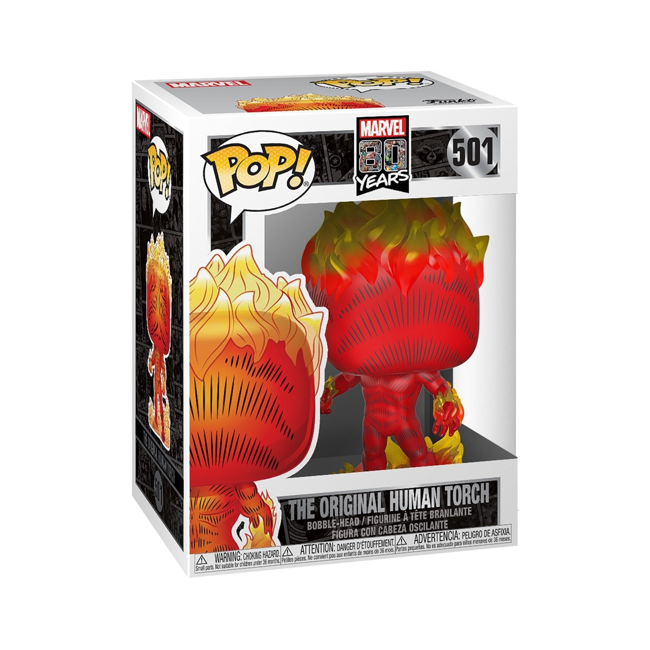 Human Torch: First Appearance (501) Marvel 80th Anniversary Pop Vinyl - 2