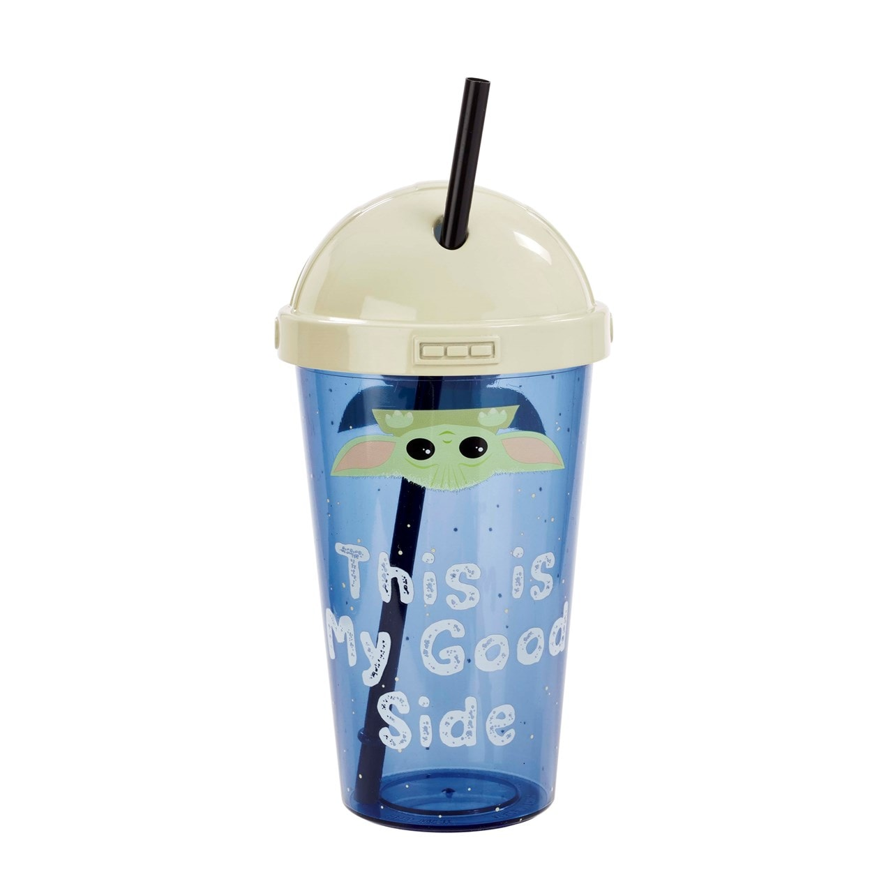 The Child: This Is My Good Side: The Mandalorian Travel Cup with Straw - 2