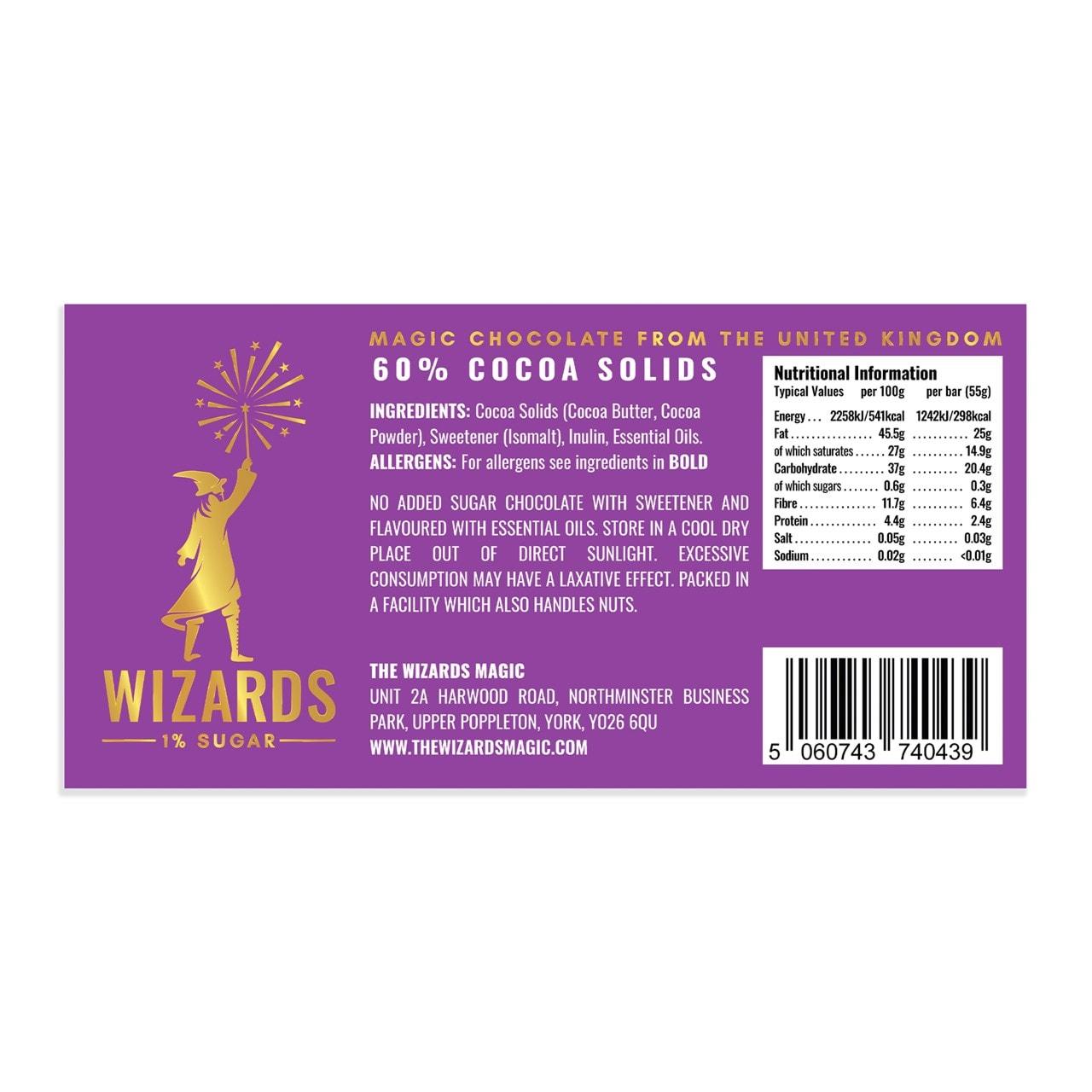 Wizards Magic Chocolate: 1% Sugar Original Gift Pack: Mint & Orange (Pack of 4) - 2