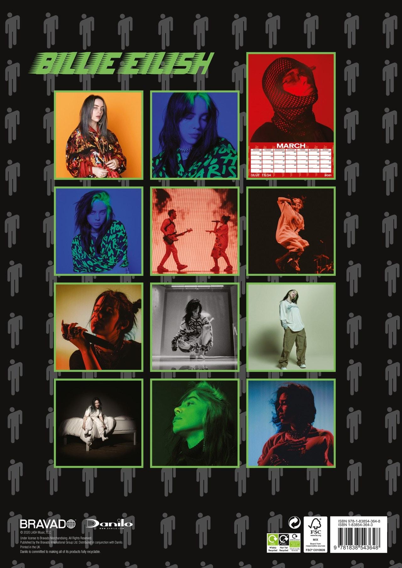 Billie Eilish: A3 2021 Calendar - 3