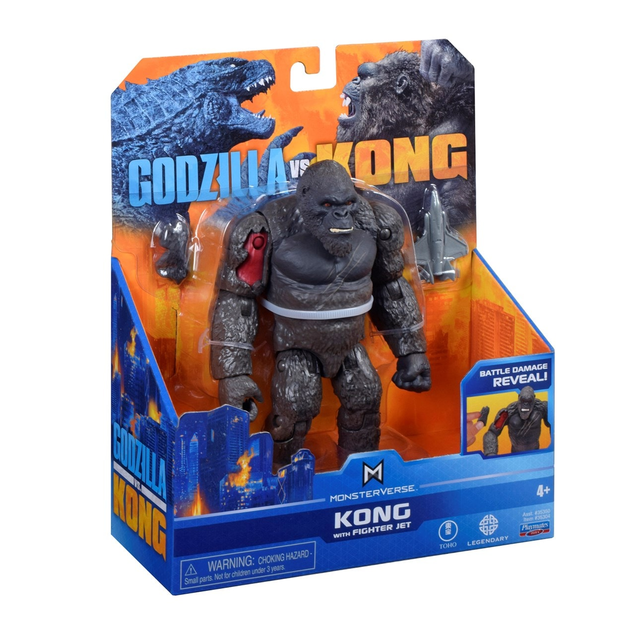 Monsterverse Godzilla vs Kong: Hollow Earth Kong with Fighter Jet Action Figure - 4