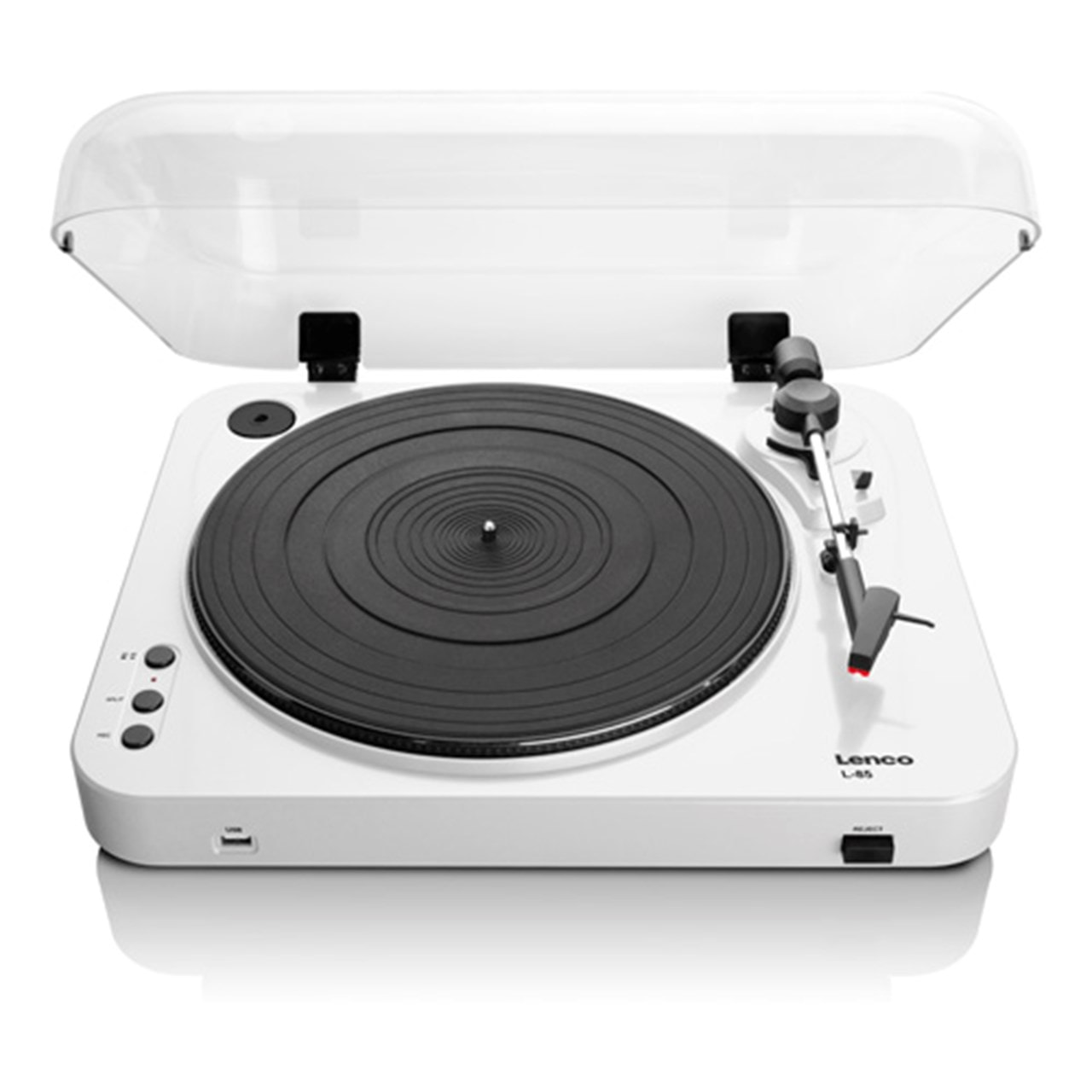 Lenco L-85 White USB Turntable - 1