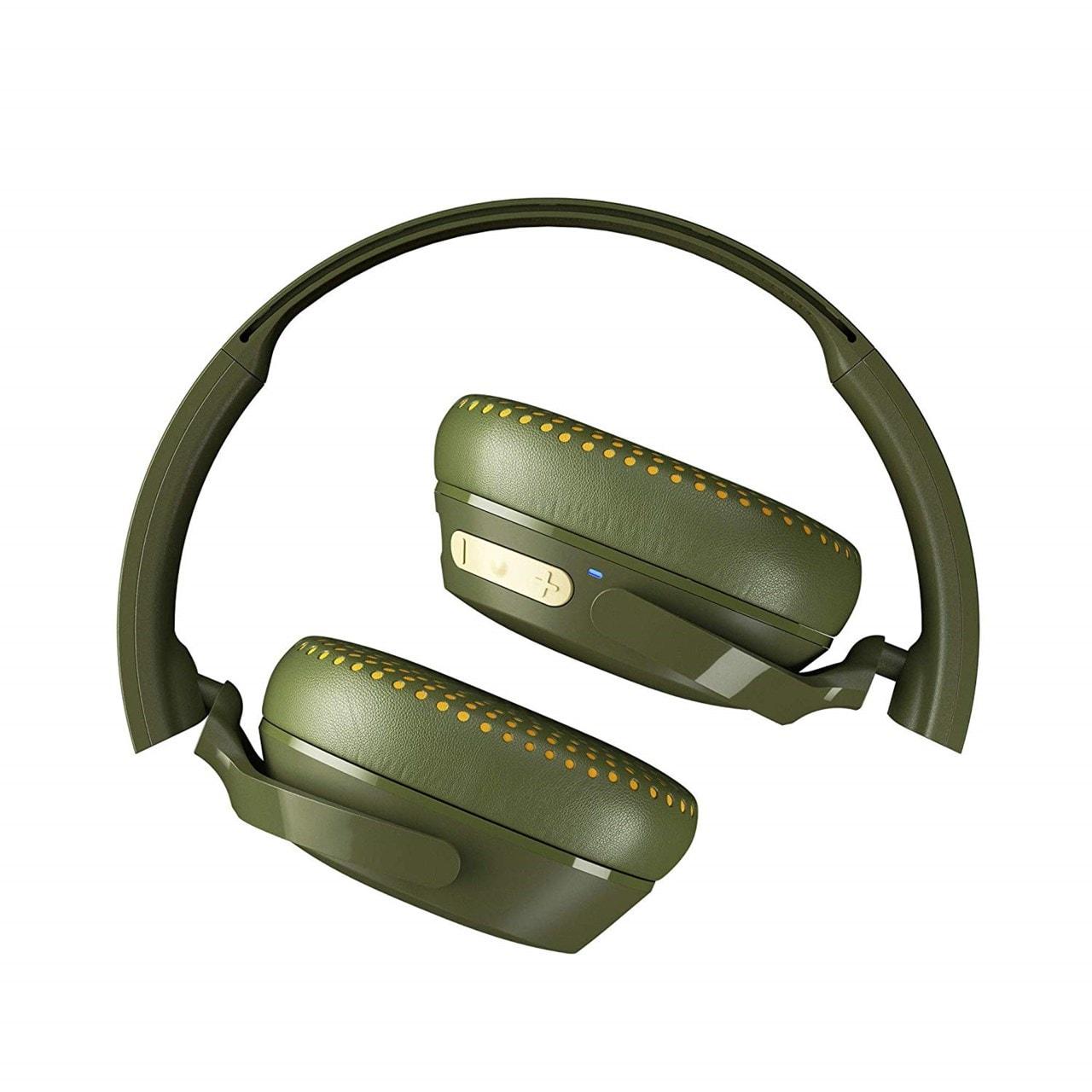 Skullcandy Riff Moss/Olive/Yellow Bluetooth Headphones - 4