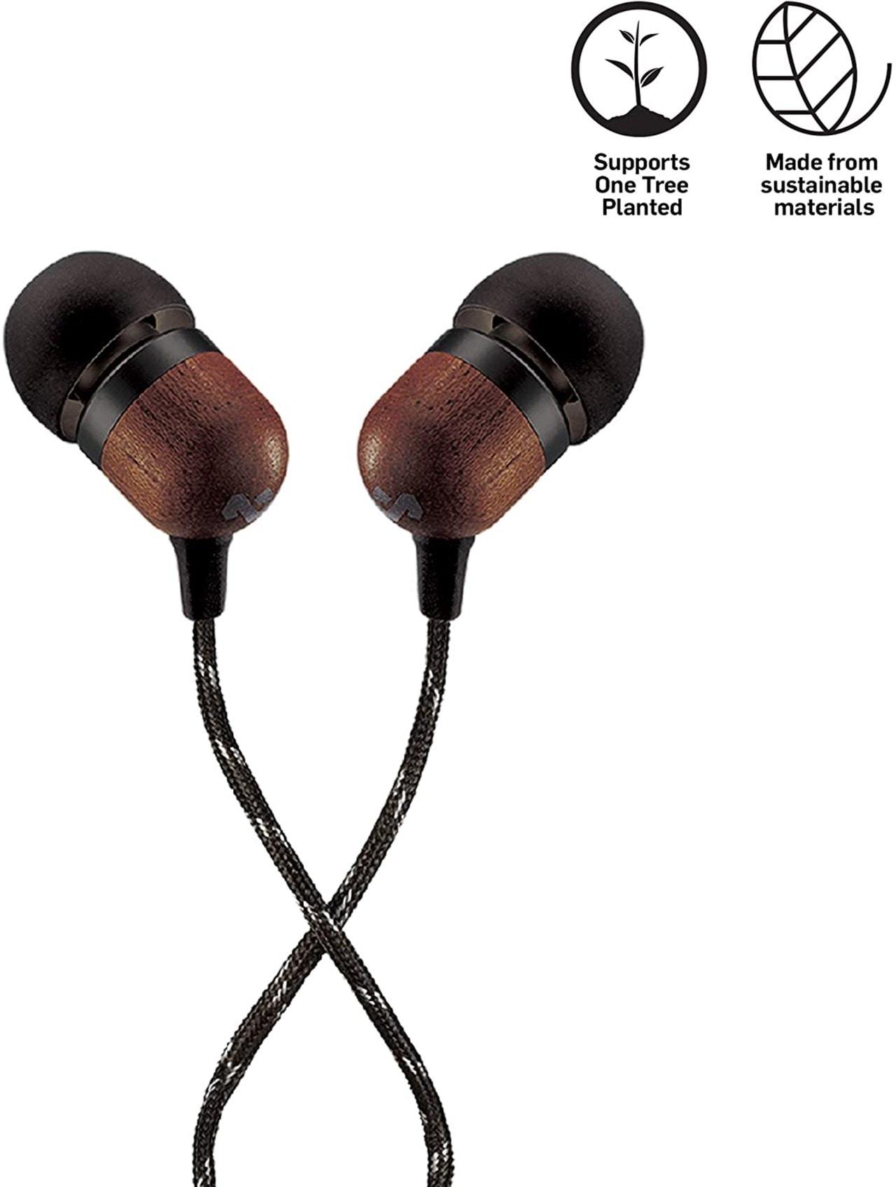 House Of Marley Smile Jamaica Signature Black Earphones W/Mic - 1