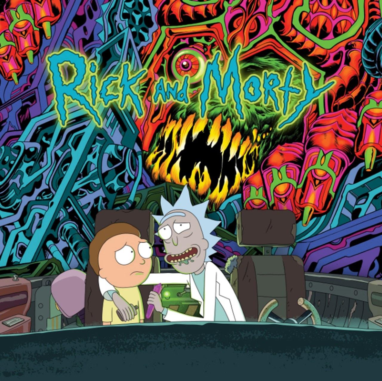 The Rick and Morty Soundtrack (hmv Exclusive) Limited Edition Pink & Dark Green Splatter Vinyl - 1