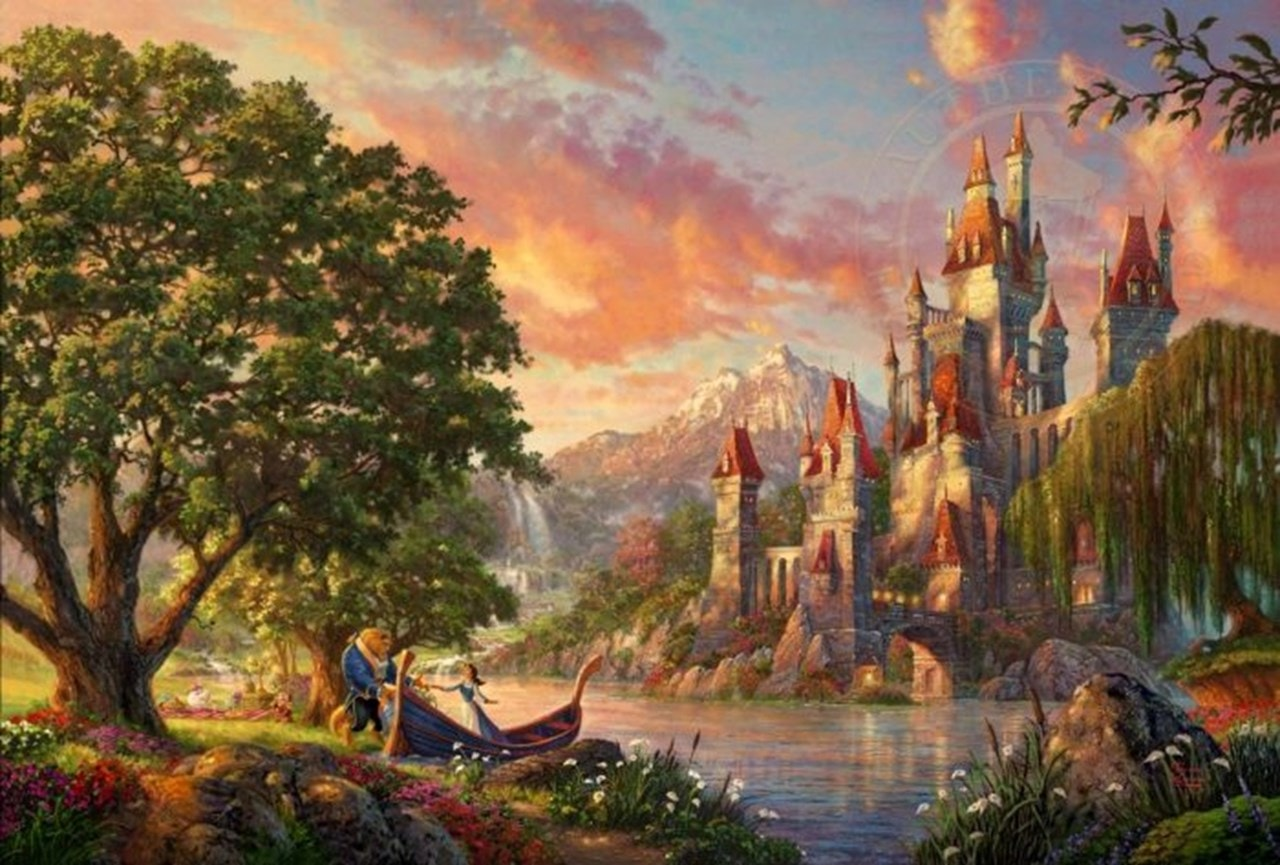 Beauty and the Beast: Limited Edition Canvas Print - 1