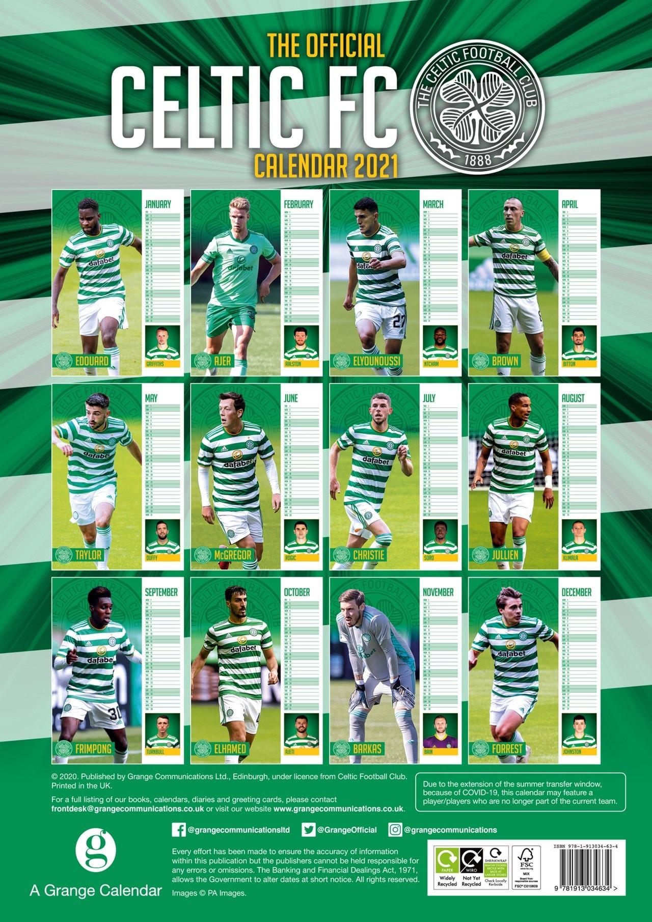 Celtic FC: Football A3 2021 Calendar - 3