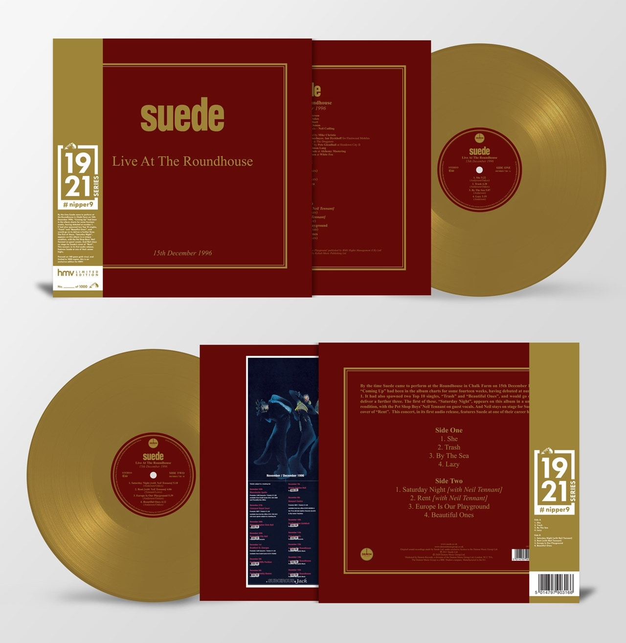 Live at the Roundhouse (hmv Exclusive) 1921 Series Gold Vinyl - 2