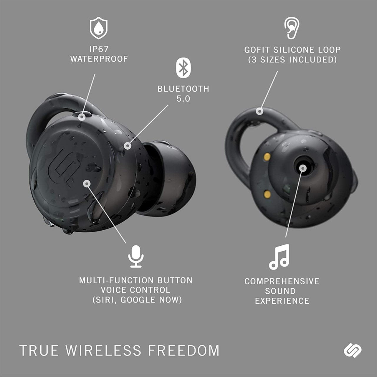Urbanista Athens Midnight Black True Wireless Bluetooth Earphones - 4