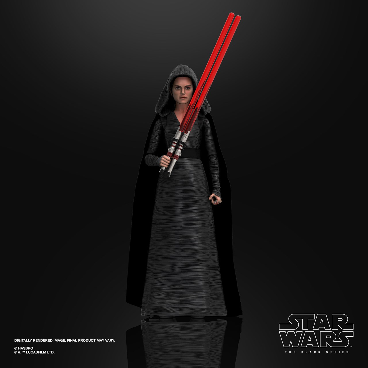 Rey (Dark Side Vision) Episode 9: The Black Series: Star Wars Action Figure - 3