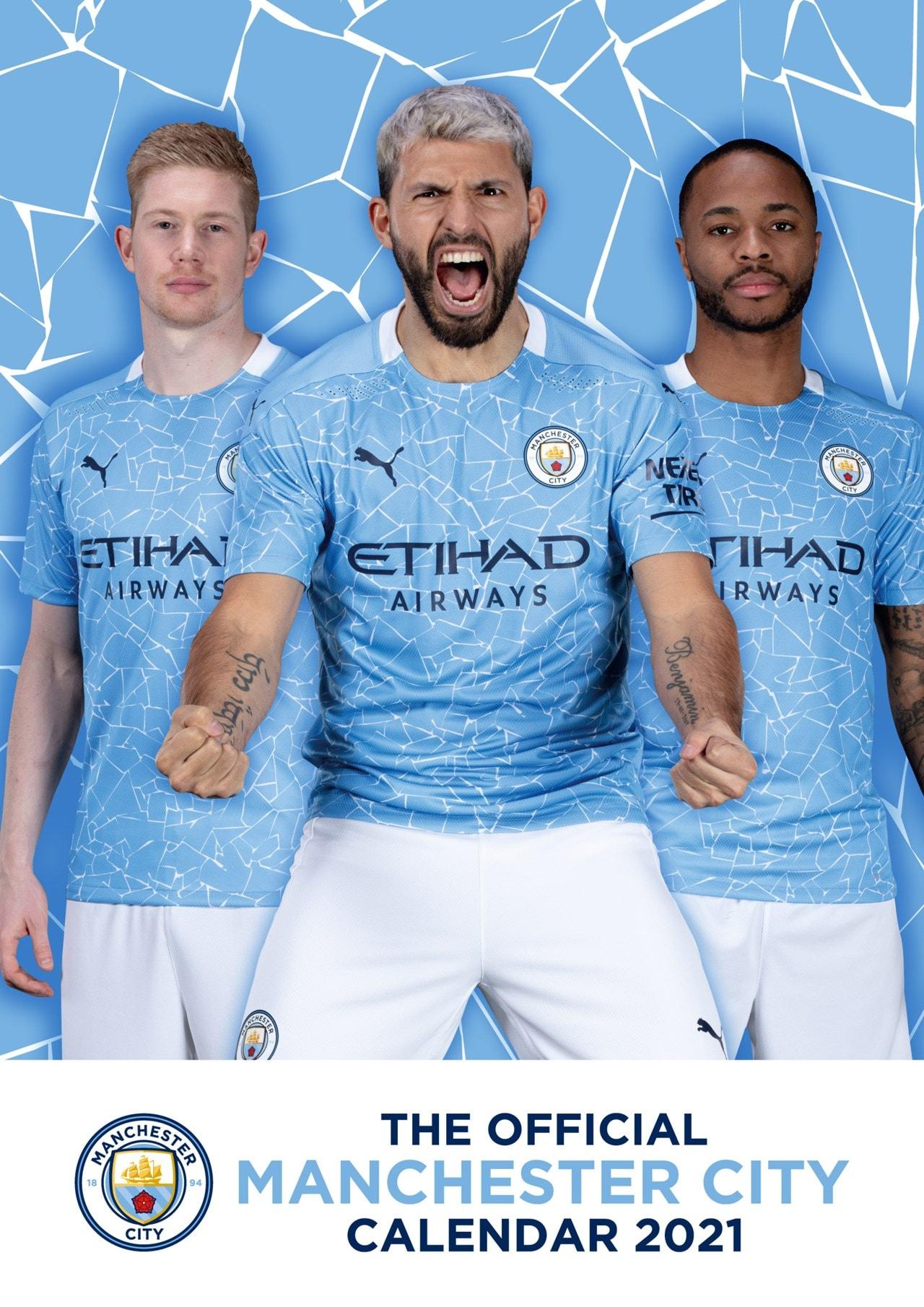 Manchester City FC: Football A3 2021 Calendar - 1