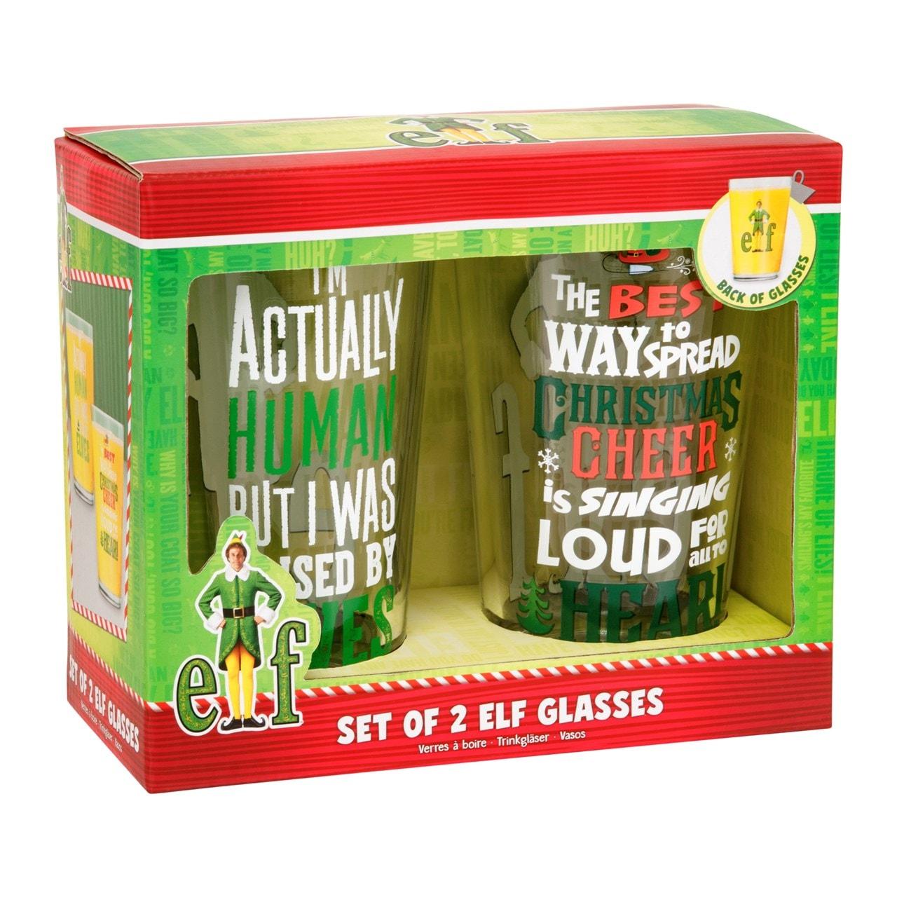 Set of 2 Elf Glasses: Large Glass Gift Set - 1