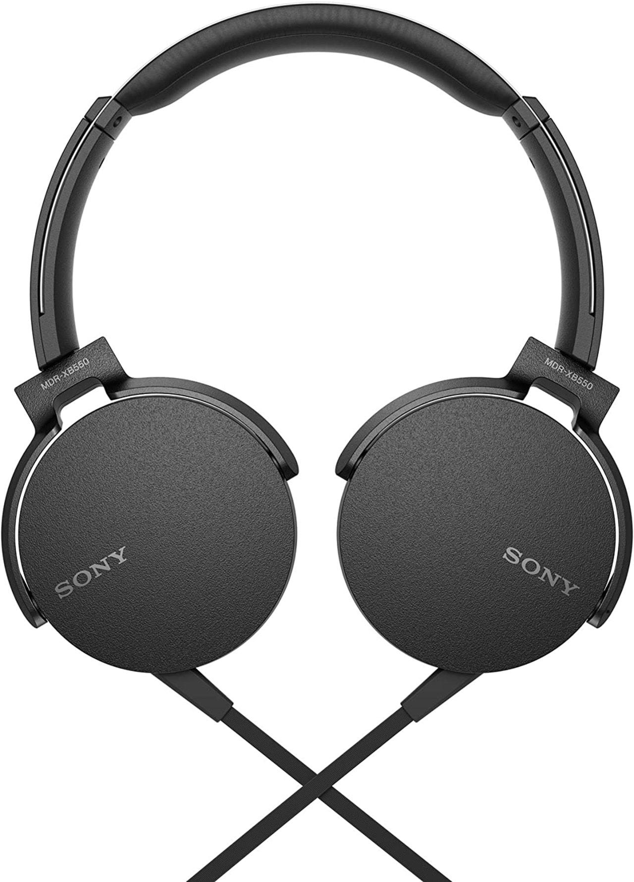 Sony XB550AP Black Extra Bass Headphones - 3