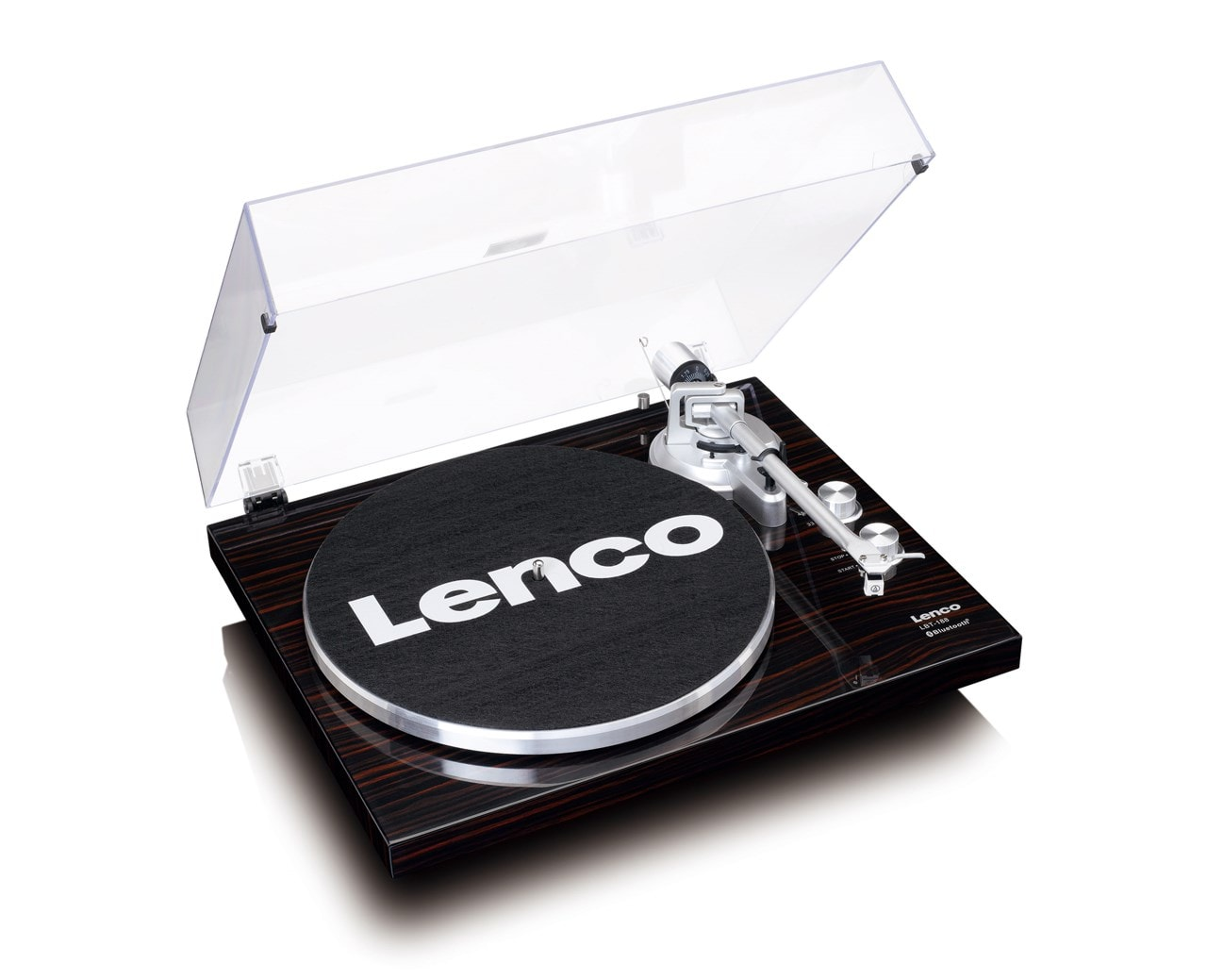 Lenco LBT-188 Walnut Bluetooth Turntable - 2