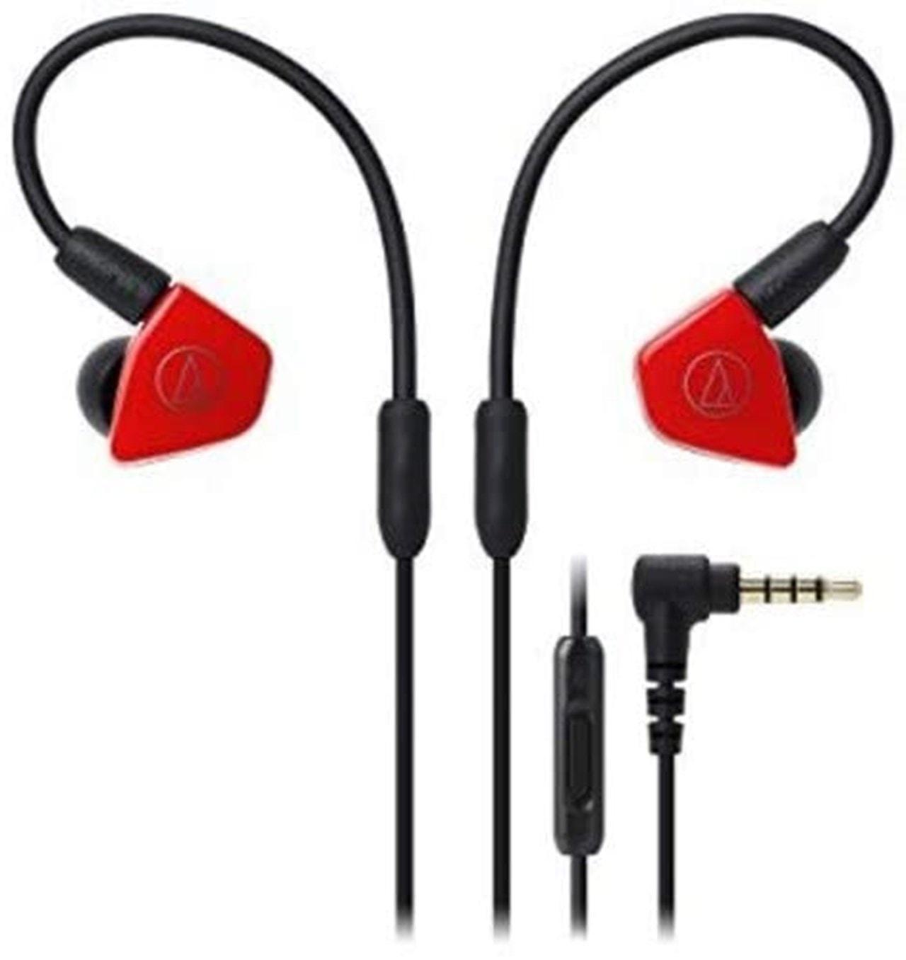 Audio Technica ATH-LS50iS Red Earphones - 1