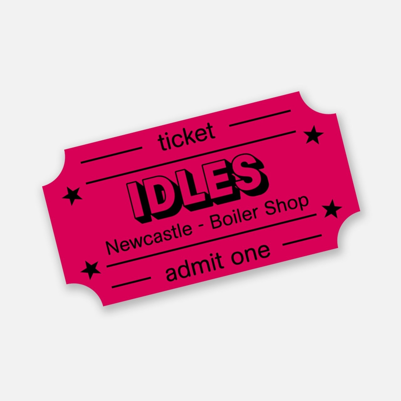 Idles - Ultra Mono - Newcastle Boiler Shop e-Ticket - 1