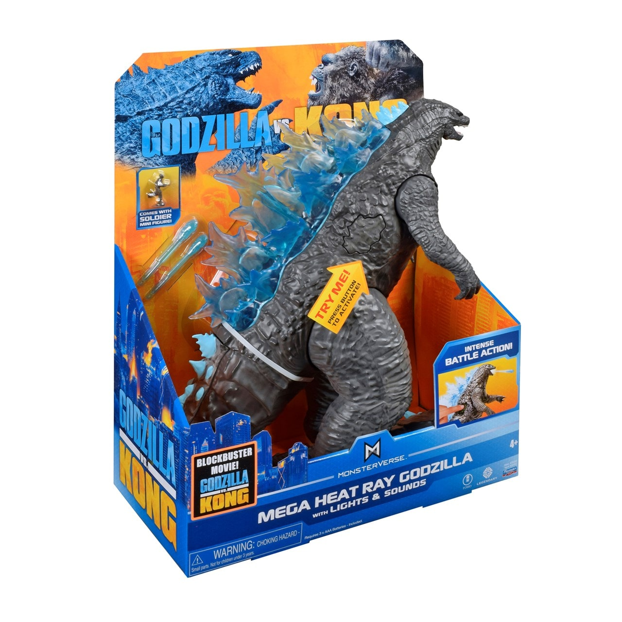 Monsterverse Godzilla vs Kong: Mega Godzilla with Lights & Sounds Action Figure - 6