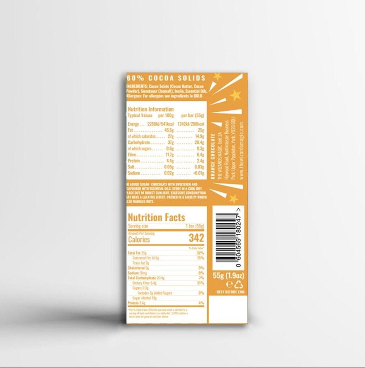 Wizards Magic Chocolate: 1% Sugar Original Gift Pack: Mint & Orange (Pack of 4) - 6
