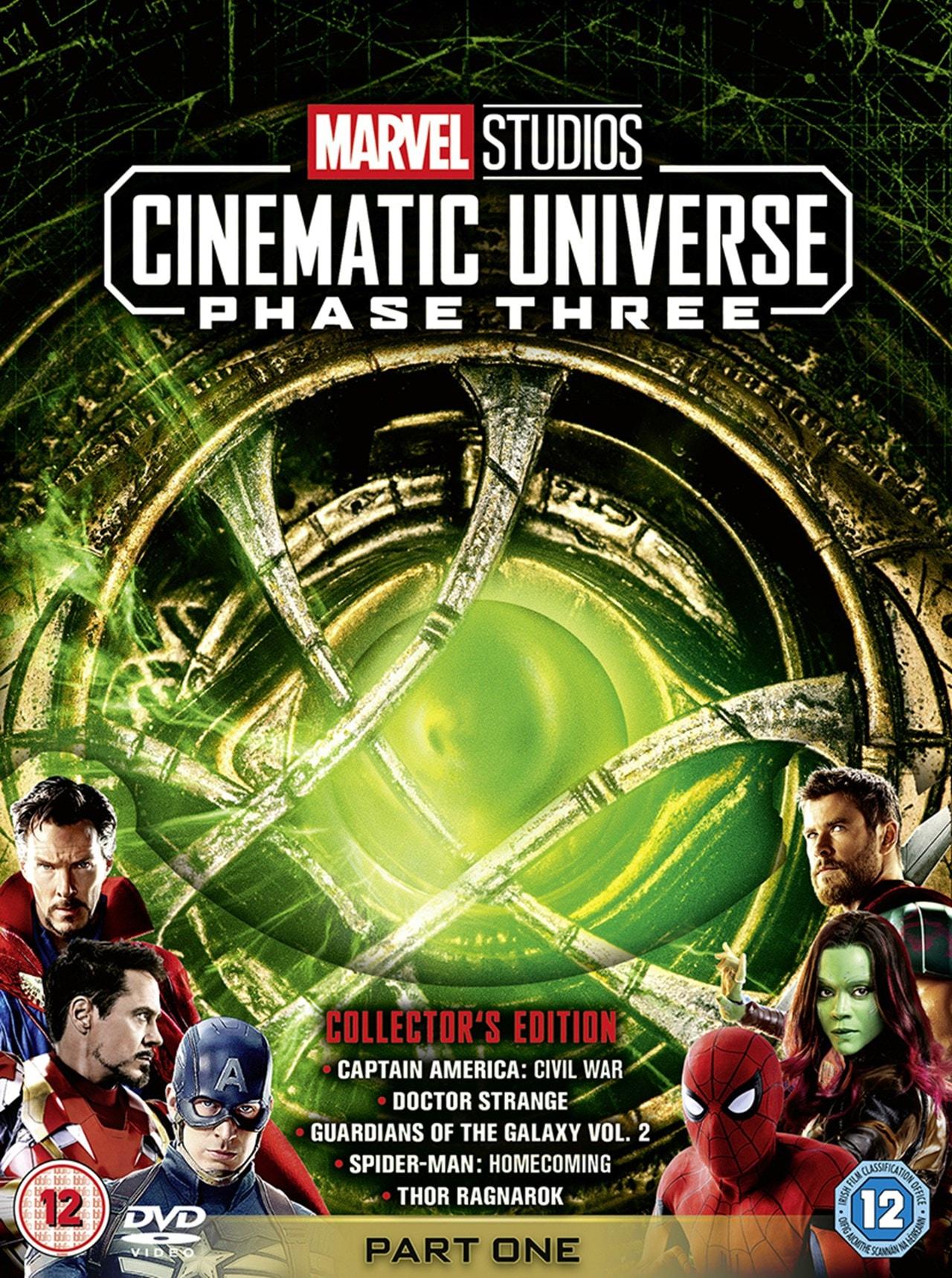 Marvel Studios Cinematic Universe Phase Three Part One Dvd Box Set Free Shipping Over 20 Hmv Store