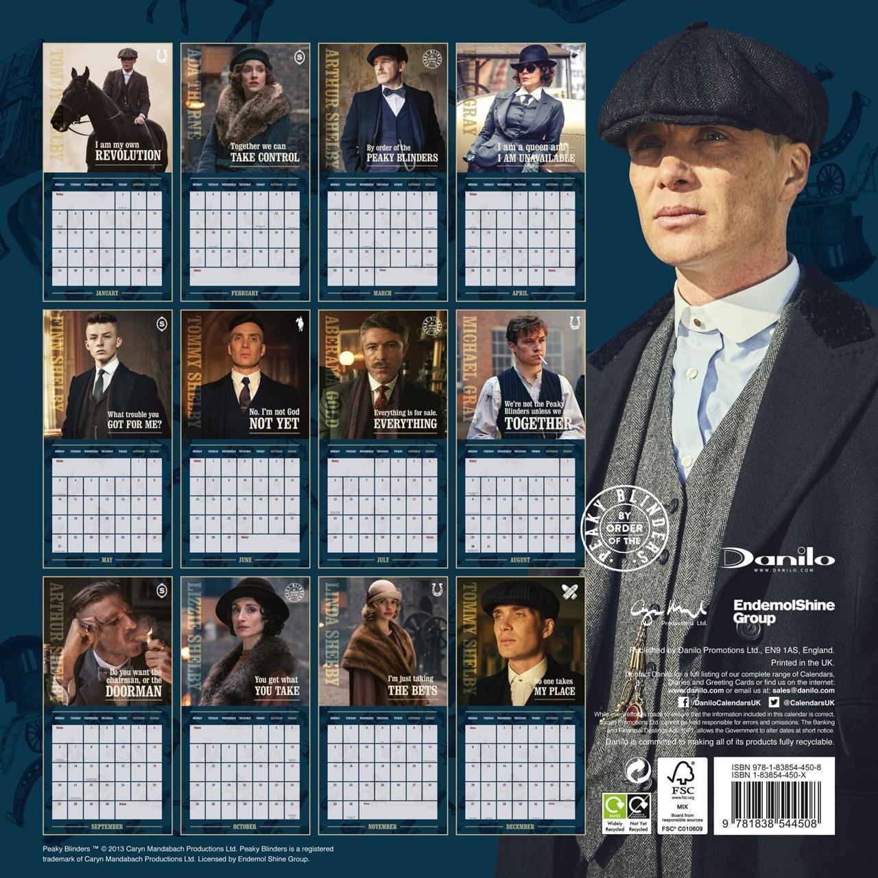 Peaky Blinders: Square 2021 Calendar - 3