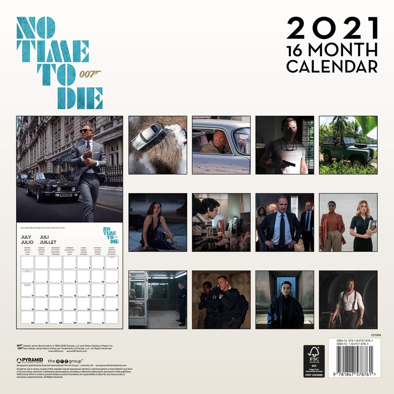 James Bond: No Time To Die Square 2021 Calendar - 3