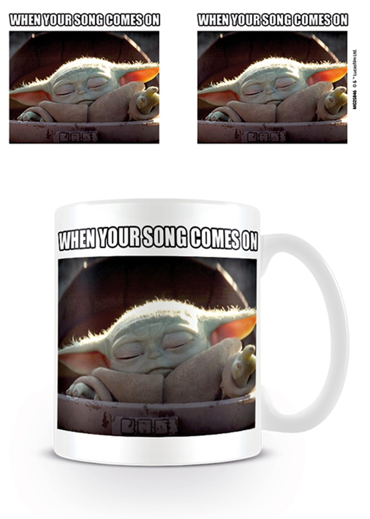 Mug Star Wars: The Mandalorian: Baby Yoda (When Your Song Comes On) - 1