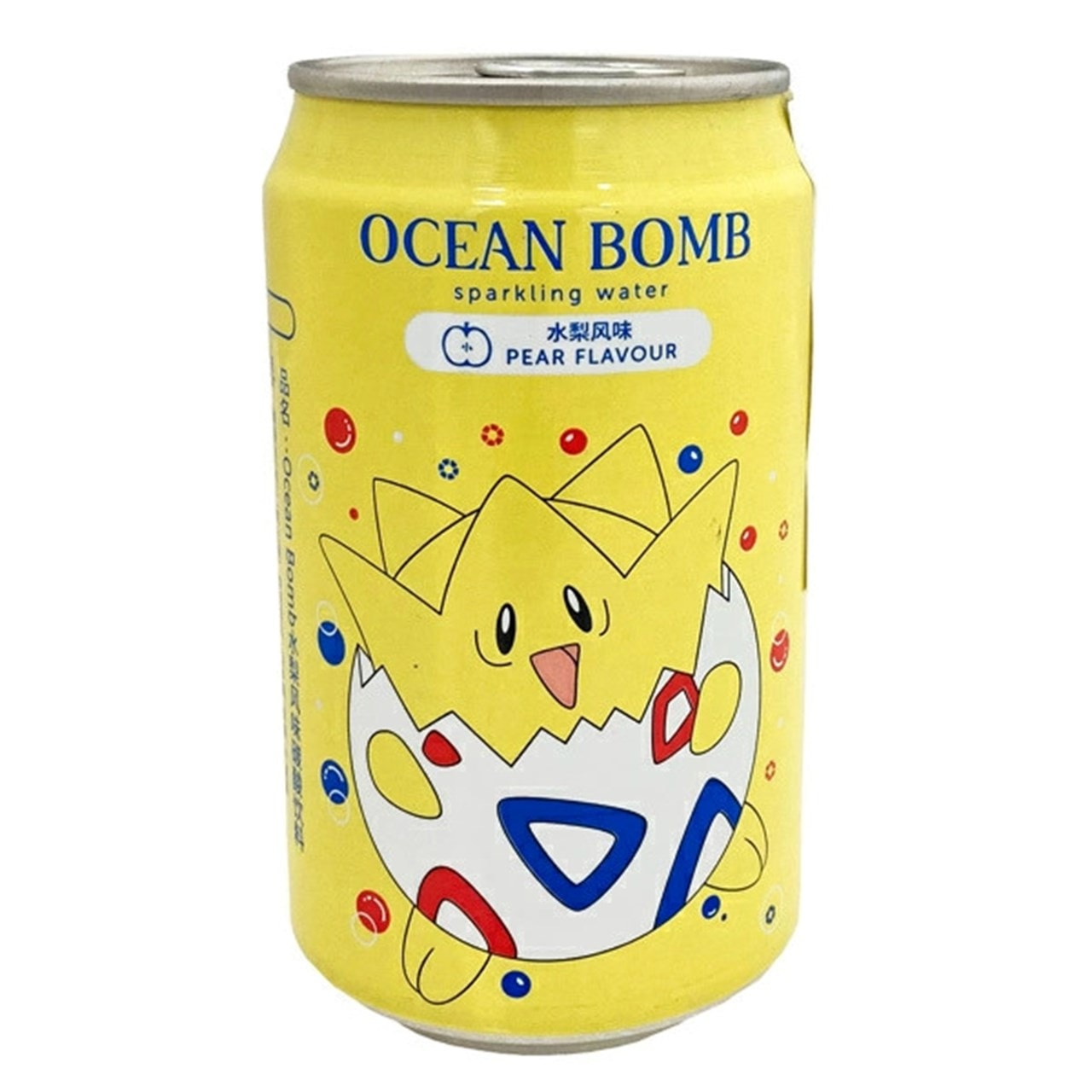 Pokemon (Togepi) Ocean Bomb: Pear Flavour Sparkling Water: Case Of 24 - 2