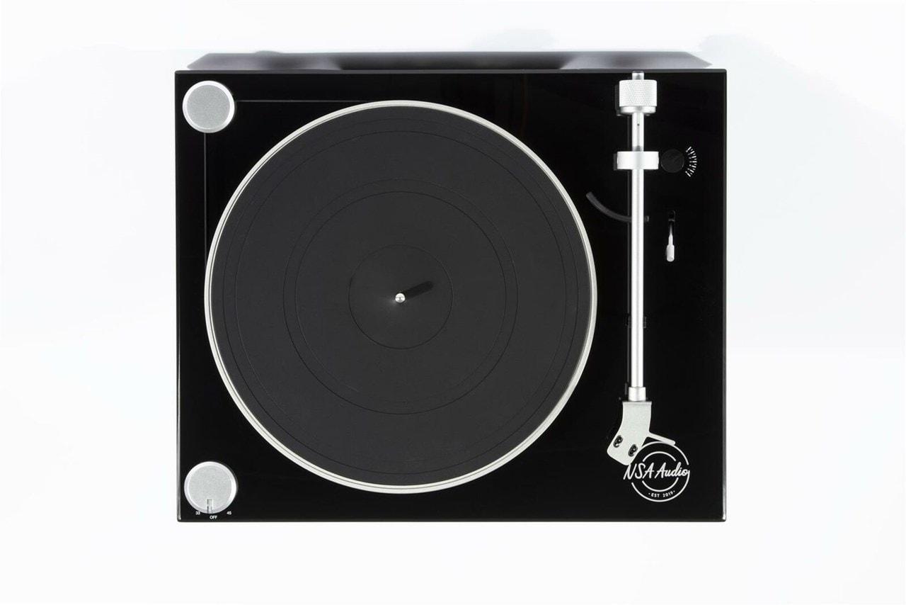 NSA Black Phono Turntable - 5