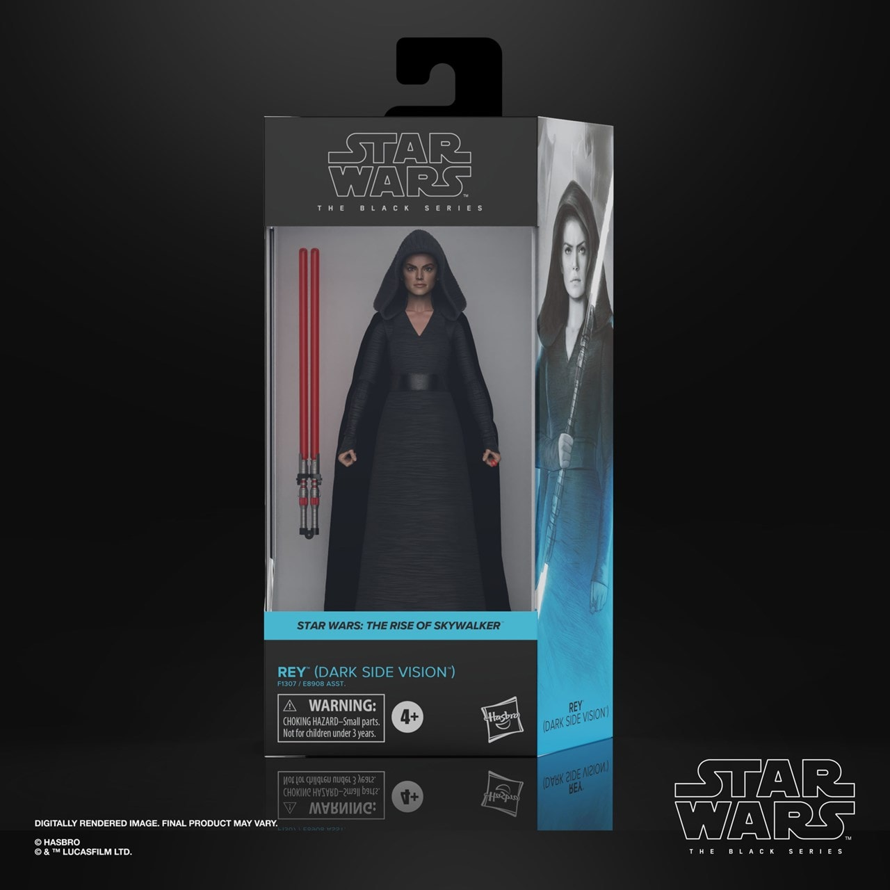 Rey (Dark Side Vision) Episode 9: The Black Series: Star Wars Action Figure - 4