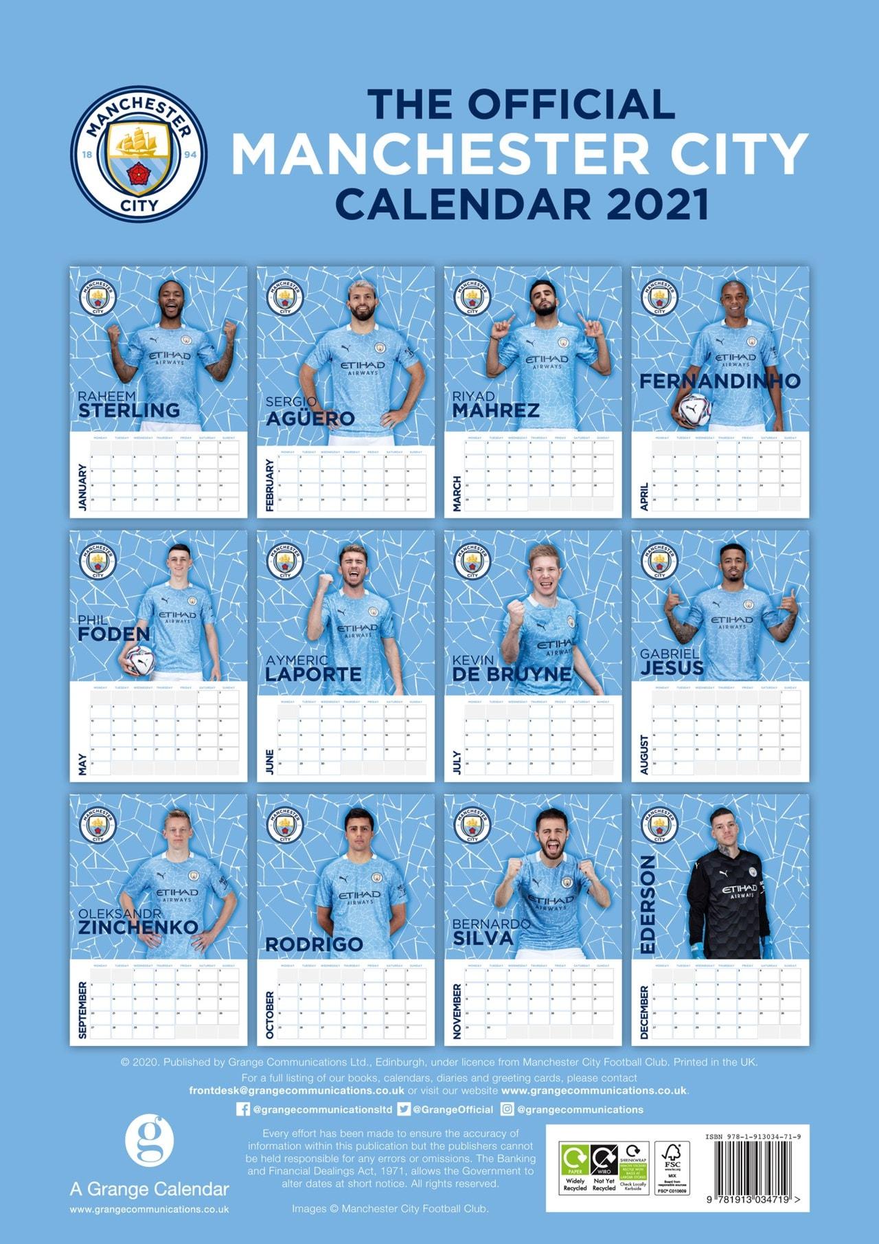 Manchester City FC: Football A3 2021 Calendar - 3