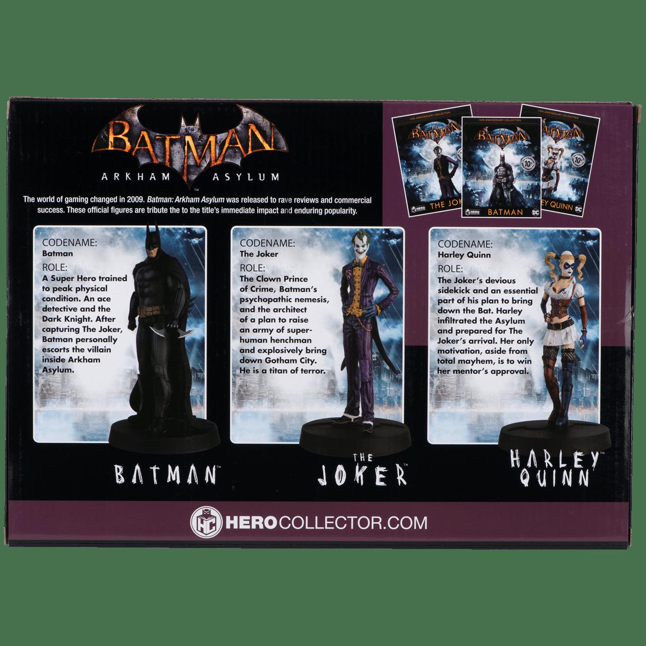 Batman: Arkham Asylum 3 Figurine Set: Batman, Joker, Harley: Hero Collector - 6