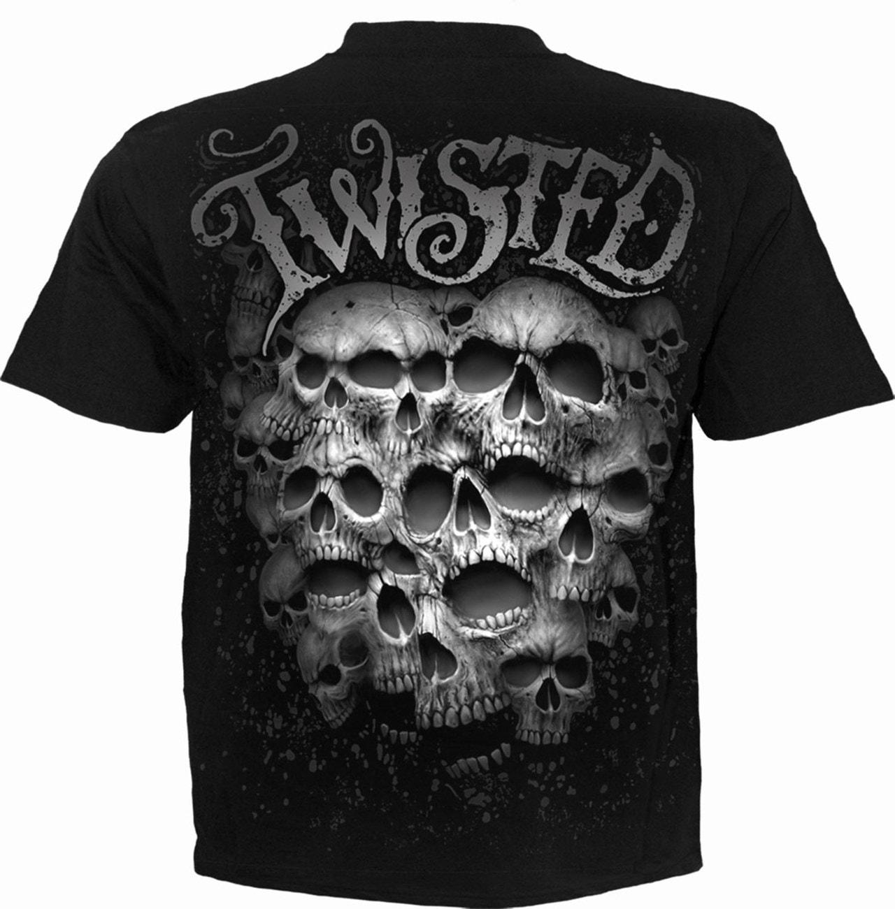 Spiral : Black Twisted Skulls (Small) - 2
