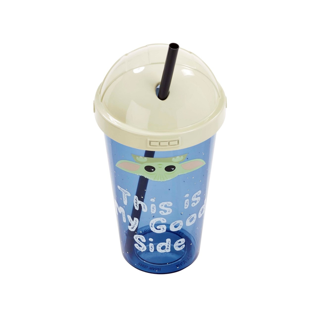 The Child: This Is My Good Side: The Mandalorian Travel Cup with Straw - 4