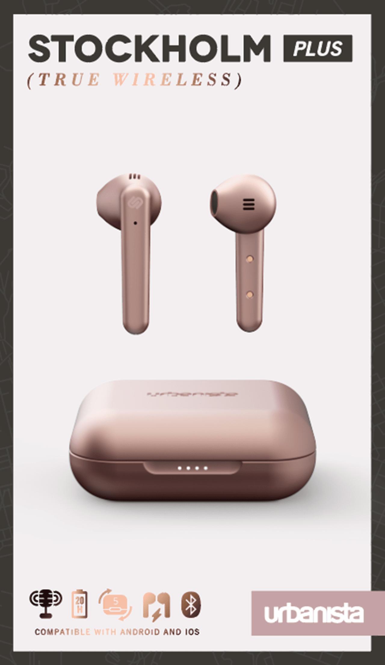 Urbanista Stockholm Plus Rose Gold True Wireless Bluetooth Earphones - 4