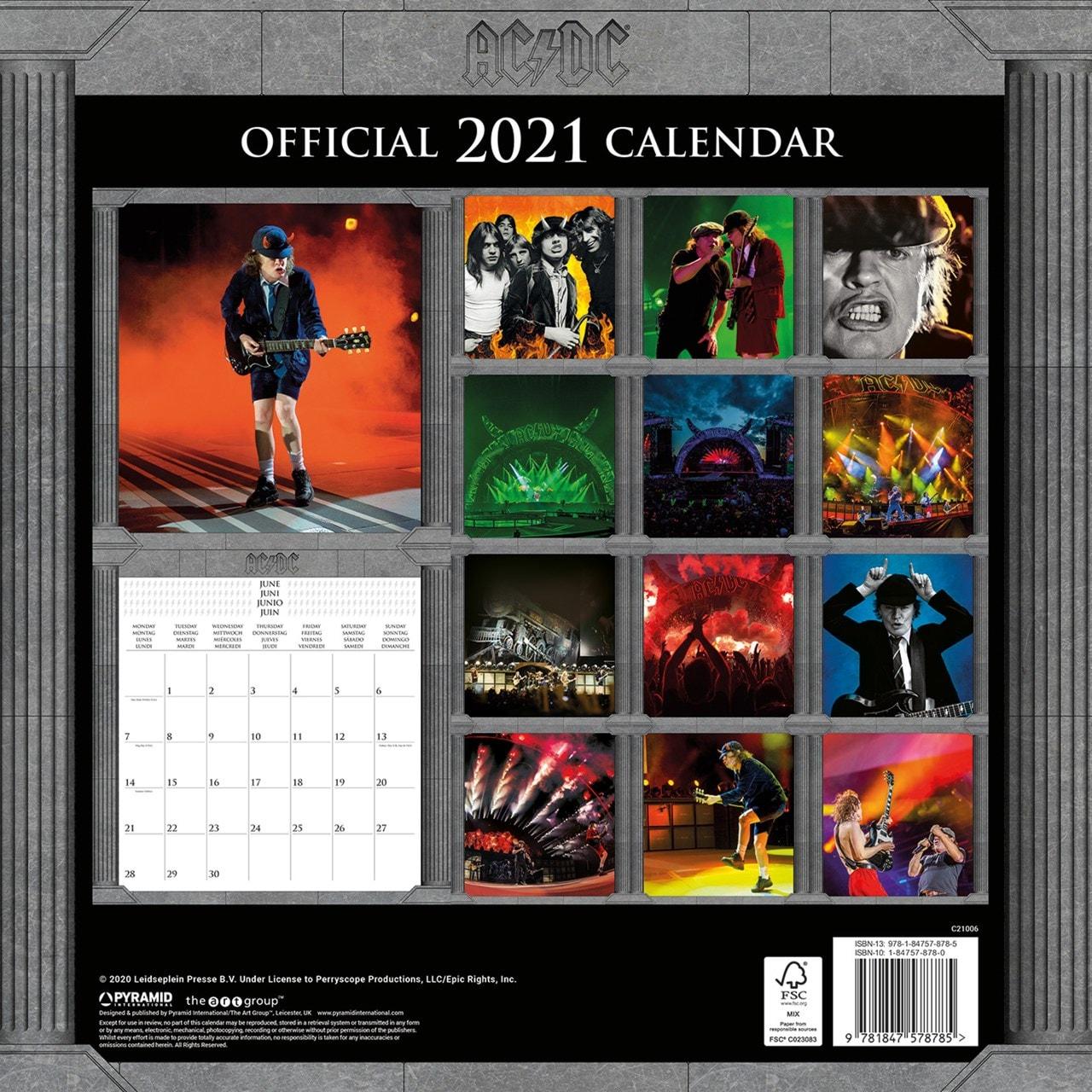 AC/DC Square 2021 Calendar - 3