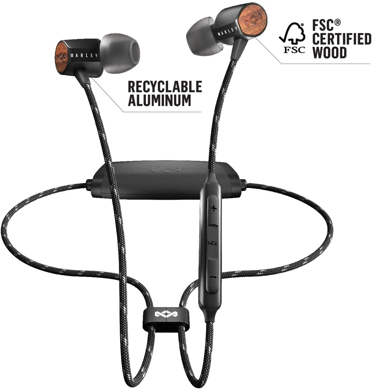 House Of Marley Uplift 2 Signature Black Bluetooth Earphones - 4