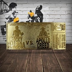 Rocky 45th Anniversary Fight Ticket: 24K Gold Plated Limited Edition Collectible - 2