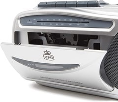 GPO Retro Cassette Player w/ AM/FM Radio - 3