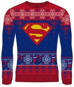 Superman: DC Christmas Jumper (Large) - 1